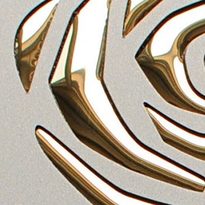 3d roses champagne met gold
